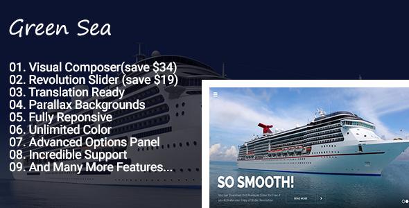Greensea - Landing Page WordPress Theme