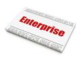 Business concept: newspaper headline Enterprise