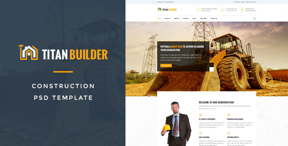 Titan Builders : Construction PSD Template