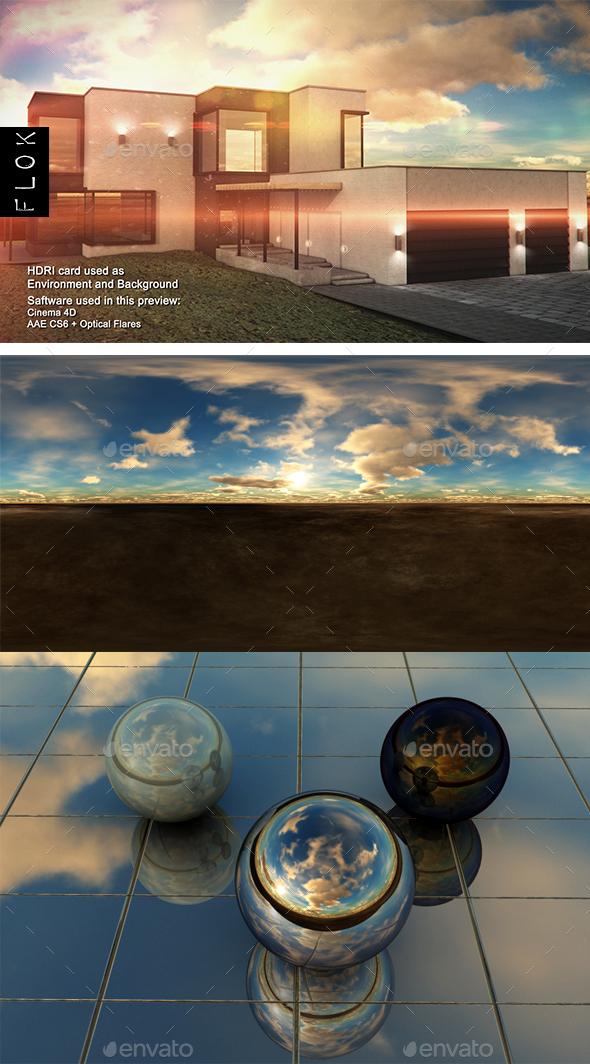 Sunset Desert 60 - 3DOcean Item for Sale