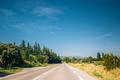 Beautiful asphalt freeway, motorway, highway. Travel road concep