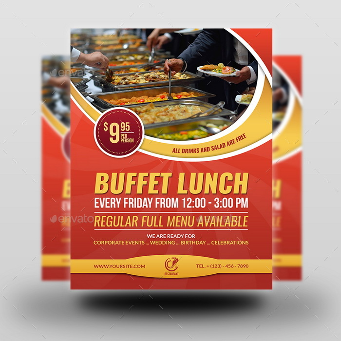 Restaurant Flyer Template Vol11 by OWPictures – Restaurant Flyers Templates