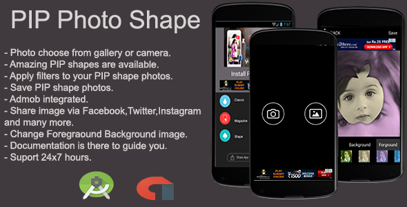 PIP Photo Shape Android App