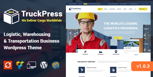 TruckPress - Warehouse, Logistics & Transportation WP Theme