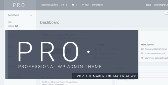 PRO Theme - Professional WP Admin Dashboard Theme