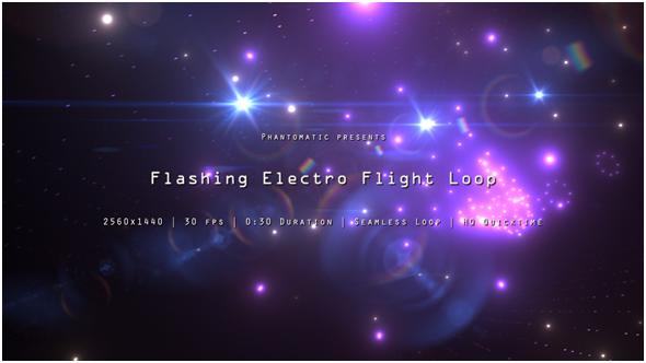 Vilkkuva Electro Flight 5 - Electric Taustat Motion Graphics
