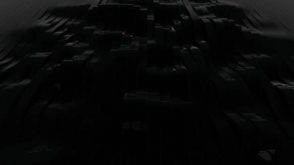 Musta Waving 3D sulatettu Stripes - Abstract Taustat Motion Graphics