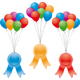 vector award ribbons and balloons - GraphicRiver Item for Sale
