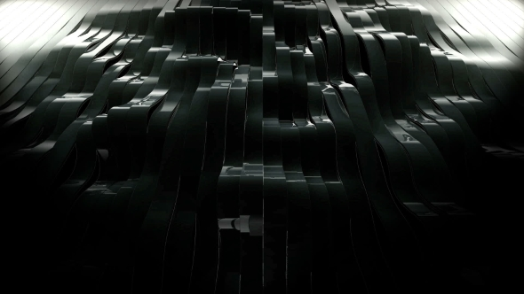 Musta Heiluttaen 3d sulatettu Stripes - Abstract Taustat Motion Graphics