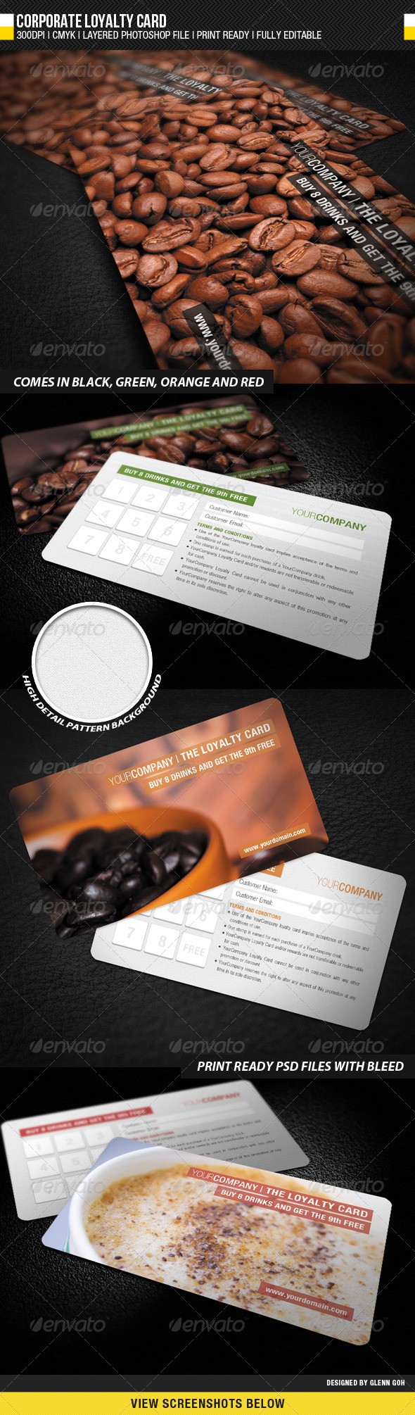 GraphicRiver Corporate Loyalty Card 1670860