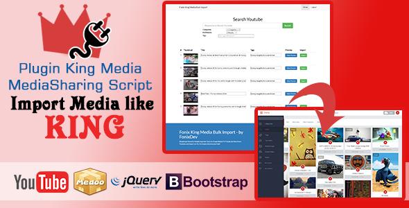 Download King Media Bulk Youtube Importer Plugin