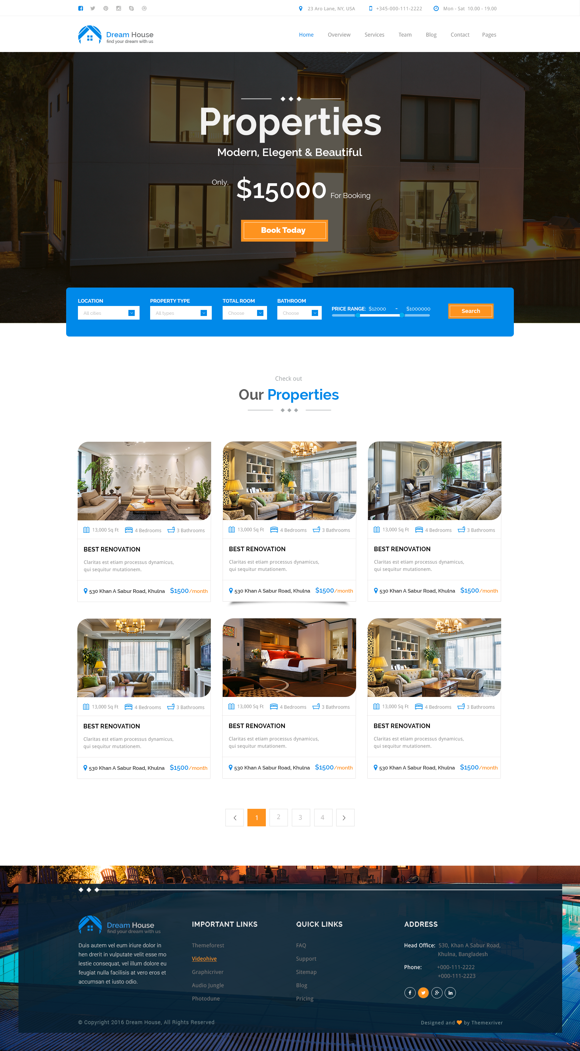Dream House Real Estate Psd Theme