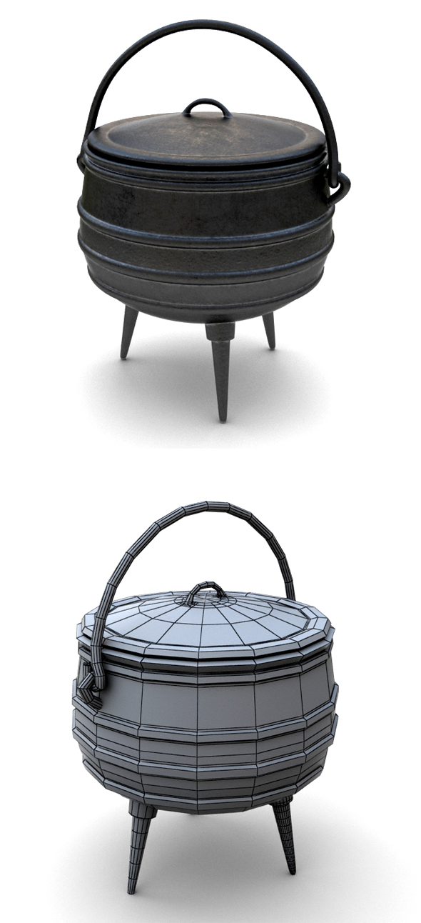 Iron Pot - 3DOcean Item for Sale