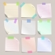 Stick Note Papers Vector Set