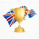 Greate Britain Winning Golden Cup Concept. Vector