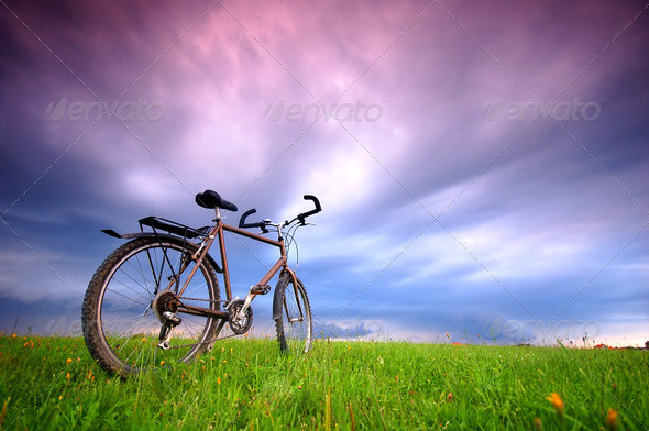 Bike background - Stock Photo - Images