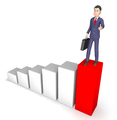 Businessman Character Means Success Successful And Advance 3d Re