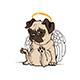 Pug Puppy Angel