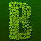 3D Green Font