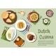Nutritious Dinner Of Native Dutch Cuisine Icon