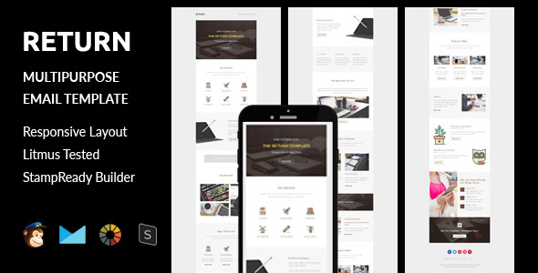 Return - Multipurpose Responsive Email Template + Stampready Builder