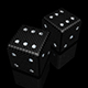 pair of black dice with sparkles diamonds - GraphicRiver Item for Sale