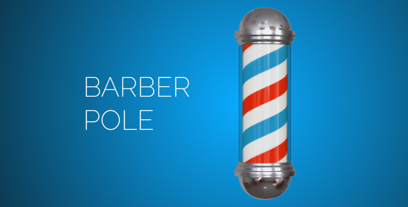 Barber Pole - 3D, Object Elements Motion Graphics