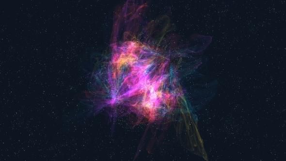 Spiral Galaxy Linnunrata - Abstract Taustat Motion Graphics