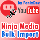 Ninja Media Bulk Youtube Importer Plugin