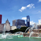 Chicago Downtown Skyline from the Buckingham Fountain View