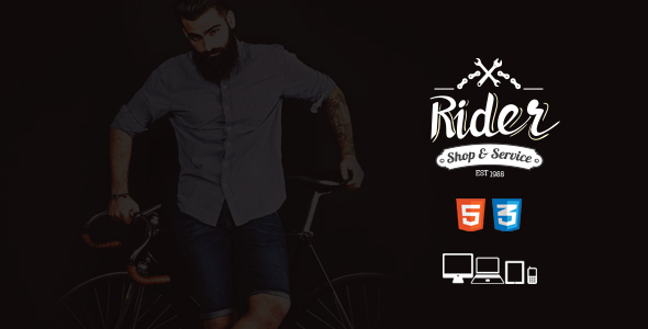 Rider -  Bike Shop & Service Site Template