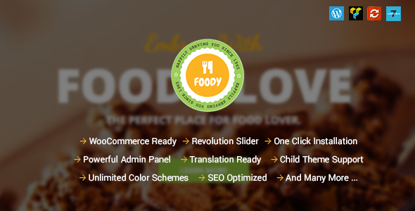 Foody - Responsive Food, Recipe Restaurant/Cafe WordPress Theme