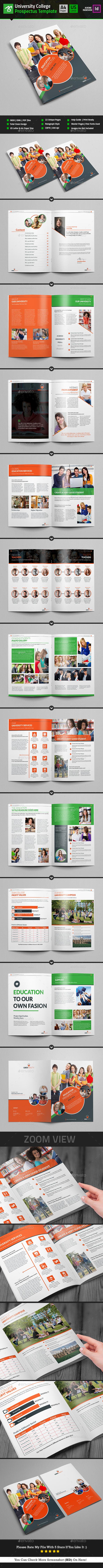 college prospectus graphics designs templates