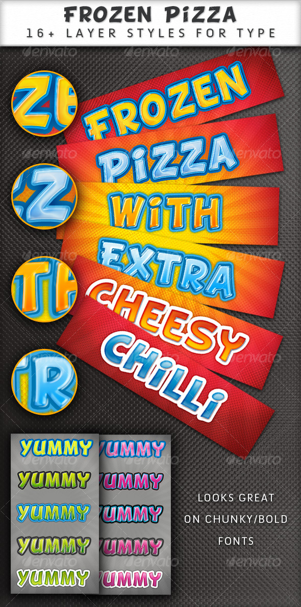 GraphicRiver Frozen Pizza layer styles 65301