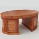 Oval Desk (PBR, UV-textured)