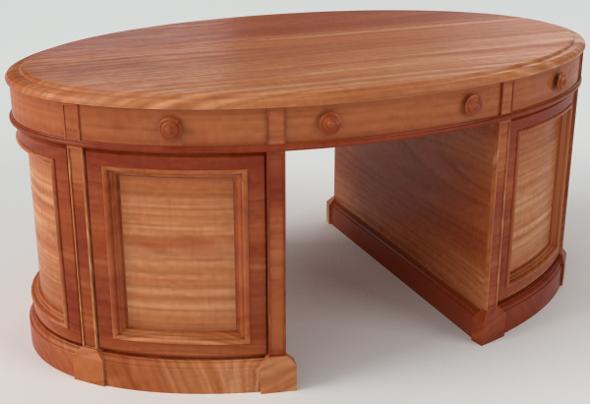 Oval Desk (PBR, UV-textured) - 3DOcean Item for Sale