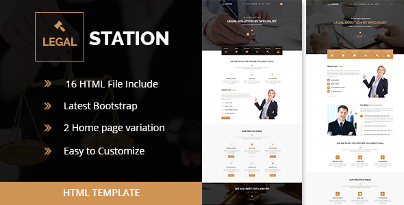 Download LEGAL STATION- Responsive HTML5 Legal Solution Template (New)