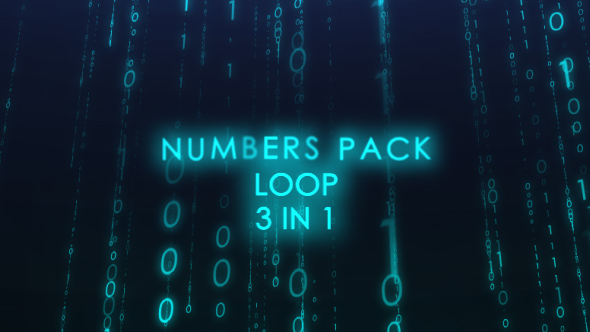 3 in 1 Numbers Pack - Abstract Taustat Motion Graphics