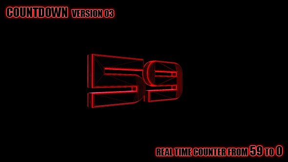 Counter 59-0 versio 3 - 3D, Object Elements Motion Graphics
