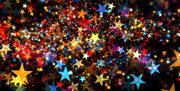 Hohtavan värikäs Stars - Taustat Motion Graphics