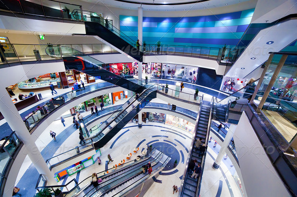 Modern shopping mall interior - Stock Photo - Images