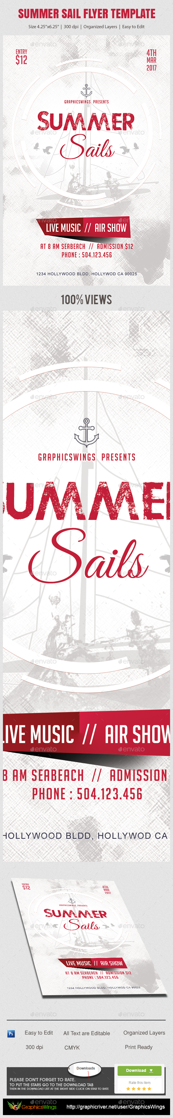 Summer Sail Flyer Template