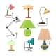Vector Set Of Home Lamps. House Light. Design