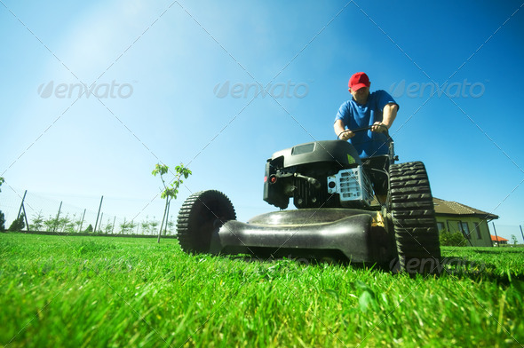PhotoDune Mowing the lawn 1673535