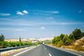 Beautiful Asphalt Freeway, Motorway, Highway Open Road. Travel R