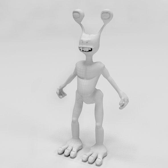 3d alien - 3DOcean Item for Sale