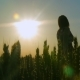 Girl In a Field Smiling Emotions Hands Dancing Ears Laughs Runs Listening To Music Girl Portrait Sun
