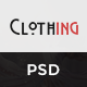 Clothing - eCommerce PSD Template