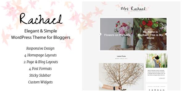 Download Rachael - Personal Blog WordPress Theme nulled download