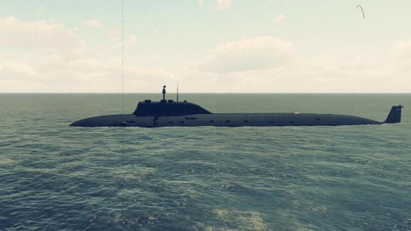 Toisen maailmansodan - Submarine - Old Film - 3D, Object Taustat Motion Graphics